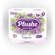 Plushe Deluxe туалетная бумага 4 рулона 3 слоя 15м Сирень