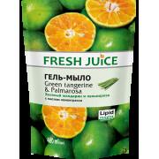 Fresh Juice Жидкое гель-мыло Green Tangerine & Palmarosaдой-пак 460мл