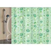 """VILINA Занавес для ванной комнаты 180 x 180 см """"Ракушки"""" 6984 зеленый"""