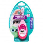 LONGA VITA Зубная щетка прорезыватель Hatchlings Angry Birds 4680287517574 розовая