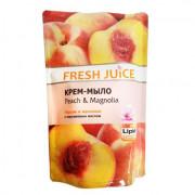 Fresh Juice Жидкое гель-мыло с глицерином персик и магнолия дой-пак 460мл