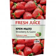 Fresh Juice Жидкое гель-мыло клубника и гуава с протеинами риса дой-пак 460мл