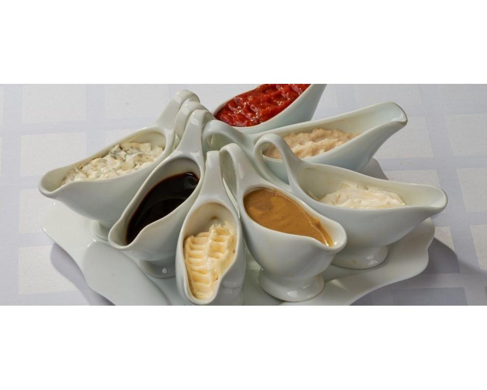 Виды соусников для разных соусов и по материалам изготовления