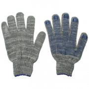 Перчатки 10 класс серые средние точка 45696