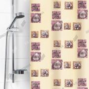 """VILINA Занавес для ванной комнаты 180 x 180 см """"Ракушки"""" 6984 бежевый"""