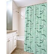 """VILINA Занавес для ванной комнаты 180 x 180 см """"Дельфины"""" 6984 зеленый"""