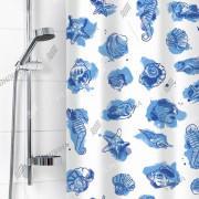 """VILINA Занавес для ванной комнаты 180 x 180 см """"Посейдон"""" 6984 голубой"""