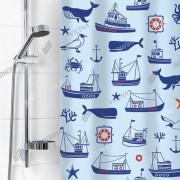 """VILINA Занавес для ванной комнаты 180 x 180 см """"Гавань"""" 6984 голубой"""