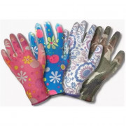 Перчатки нейлоновые с нитрилом Цветок 01-039