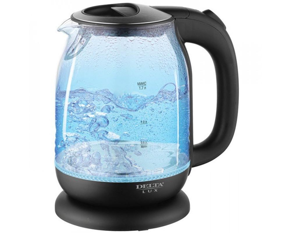 Видео обзор Электрический чайник DELTA LUX DL 1206 B DL черный