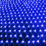Гирлянда СЕТКА 160 led синяя (1,5м*1,5м)