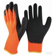 Перчатки акриловые утепленные 2й облив 01-095