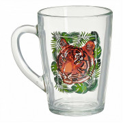 ДЕКОСТЕК Кружка для чая 350 мл (Тигр на охоте) 2012-Д