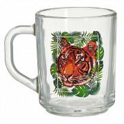 ДЕКОСТЕК Кружка для чая 200мл (Тигр на охоте) 335-Д