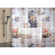 VILINA Занавес для ванной комнаты 180 x 180 см 6666 КАМНИ 1563-1