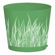 PLASTIC REPUBLIC Горшок для цветов 160 мм 2 л с прикорневым поливом Easy Grow ING47016ЗТ зелёная трава