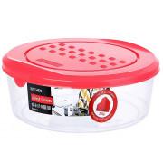 DELTA Ёмкость для хранения продуктов круглая 0,5 л PATTERN РТ1098КОРАЛ-26PN коралловая