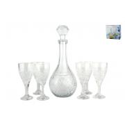 КОРАЛЛ Набор бокалов для вина 7 пр. гранение WB003-S7