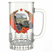 """ДЕКОСТЕК Кружка для пива 475мл """"Машины ретро""""1040/1-Д"""