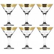 """ГУСЬ ХРУСТАЛЬНЫЙ Набор бокалов для мартини 190 мл. """"Барокко"""" GE63-410"""