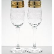 """ГУСЬ ХРУСТАЛЬНЫЙ Набор бокалов для шампанского 200 мл. """"Свадьба"""" EAV144-813/SV"""