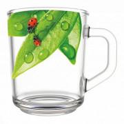 ДЕКОСТЕК Кружка для чая 200 мл Живая природа. Зеленый лист 335-Д