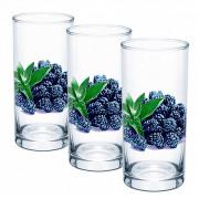 """ДЕКОСТЕК Набор 3 стакана """"Ежевика"""" ДСГ424020311"""