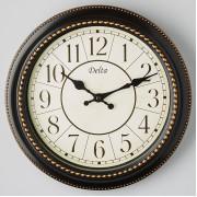 DELTA Часы настенные 28 см DT5-0002 черные