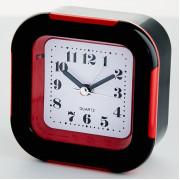 DELTA Будильник 9x4,5х9,5см DT8-0015 с подсветкой, красный