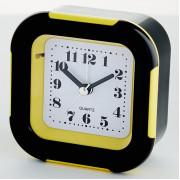 DELTA Будильник 9x4,5х9,5см DT8-0016 с подсветкой, желтый