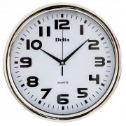 DELTA Часы настенные 31 см DT-0086 серебро