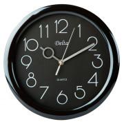 DELTA Часы настенные 28 см DT-0127 черные