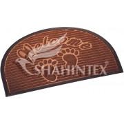 SHAHINTEX Коврик МХ10S 40*60 придверный полукруг влаговпитывающий 9636 коричневый