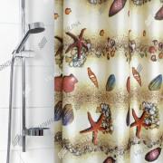 """VILINA Занавес для ванной комнаты 180 x 180 см """"Пляж"""" 6666 (1555-1)"""