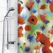 """VILINA Занавес для ванной комнаты 180 x 180 см """"Маки"""" 6666 (1576-1)"""