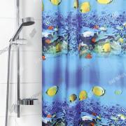 """VILINA Занавес для ванной комнаты 180 x 180 см 6666 """"Рифы"""" 1557-1"""