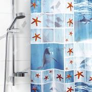 """VILINA Занавес для ванной комнаты 180 x 180 см 6666 """"Дельфины"""" 1565-1"""