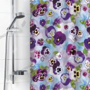 """VILINA Занавес для ванной комнаты 180 x 180 см 6666 """"Фиалки виола"""" 1575-1"""