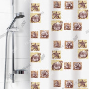 """VILINA Занавес для ванной комнаты 180 x 180 см """"Ракушки"""" 6984 белый"""