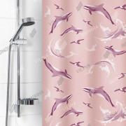 """VILINA Занавес для ванной комнаты 180 x 180 см """"Дельфин"""" 6984 розовый"""