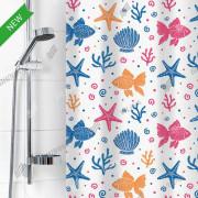 """VILINA Занавес для ванной комнаты 180 x 180 см """"Одиссея"""" 6984 белый"""