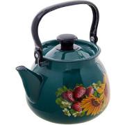 КМК Эмалированный чайник 3,5л. 42115 133/6 бирюзовый