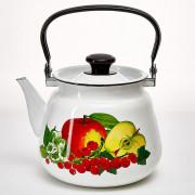 КМК Эмалированный чайник 3,5 л. 43504-132/6 белый