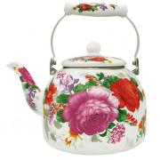 """METALLONI Эмалированный чайник 5.0л. """"Цветочный букет"""" EM-501X1/48"""