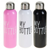 "КОМАНДОР Бутылка для воды 500 мл. ""My bottle"" 1920388 микс"