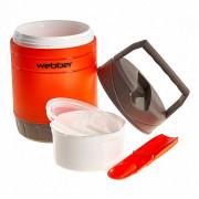 WEBBER Термос пищевой 1,2 л 24010/6Р оранжевый с серым