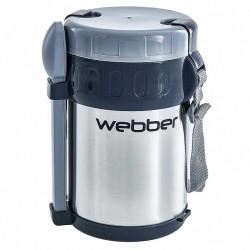 WEBBER Термос пищевой 2 л  SSL-2000N с ложкой, вилкой и 3 контейнерами из нержавеющей стали