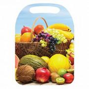 """WEBBER Доска разделочная 21×29 см деревянная """"Корзина с фруктами"""" К-158"""