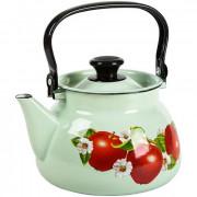 КМК Эмалированный чайник 3,0л. 42115 123/6 салатовый