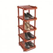 DD STYLE Полка для обуви 5 секций коричневый 08005